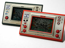 Nintendo Game & Watch Wide Screen Popeye PP-23/Mickey Mouse MC-25 MIJ Free Ship!