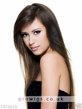 100% Real Hair Beautiful Sexy Long Brown Straight Wig For Women Human Hair New