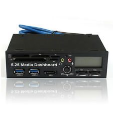 5.25 USB 3.0 Alta Velocidad Media Tablero Delantero Panel PC Multi Card Reader