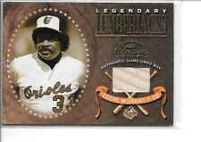 EDDIE MURRAY 2001 DONRUSS CLASSICS LEGENDARY LUMBERJACK GAME USED BAT