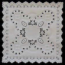 """SQUARE 5"""" WHITE EMBOSSED DOILIES 12.5CM X 20"""