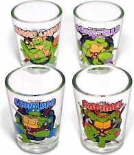 TMNT Teenage Mutant Ninja Turtles Shot Glasses, Set of 4- 1 Of Each Turtle!