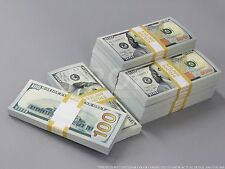 THE BEST PROP MONEY $110k NEW STYLE $100 Full Print Stack for Movie, TV, Video