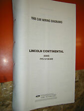 1988 LINCOLN CONTINENTAL ORIGINAL FACTORY WIRING DIAGRAMS SHEETS SERVICE