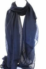 NEW NAVY BLUE LARGE MAXI SCARF HEAD SCARVES STOLE SARONG SHAWL Fast Shipping