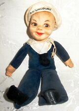 "Nora Wellings Cloth Sailor Doll 1940's to 1950's Cruise Ship ""S.S. Uruguay"""