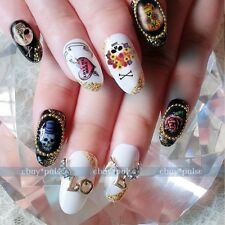 Wholesale 40 Punk Nail Art Tip Halloween Skull Decal Wrap Water Transfer Sticker