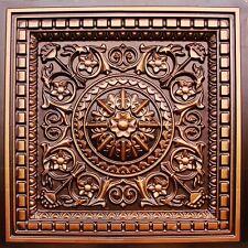 #215 (Lot of 50) - Antique Copper 2' x 2' PVC Decorative Ceiling Tiles Grid