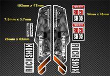 ROCK Shox Reba stile Sospensione Forcella Decalcomania / Adesivi rx08