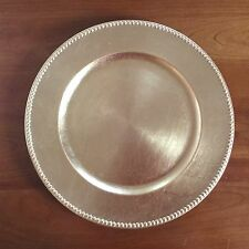"Gold lacquered beaded 13"" charger plate heavy duty - great for the holidays!!"