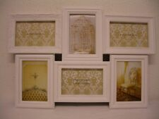 6 -piece Picture frame made of Plastic white shabby chalet 10 x 15 cm Photo