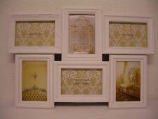 6 teiliger Bilderrahmen aus Kunststoff weiß shabby chalet 10 x 15 cm Fotorahmen