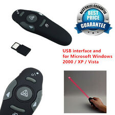 2.4GHz Wireless USB PowerPoint Presenter RF Remote Control Laser Pointer Pen RX