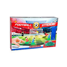 Bloc Tech building bricks set stade de football jeu 845 blocs 2 player action