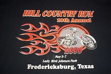 Hill Country Run 10th Annual Fredericksburg Texas Lady Bird Park T-Shirt Mens L