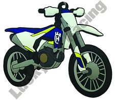 Husqvarna FC 250 rubber key ring motor bike cycle gift keyring chain