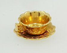 Vintage 9Carat Yellow Gold 'You're My Cup of Tea' Teacup Charm (Approx 19x9mm)