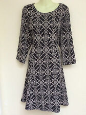 MONSOON OLIVIA JACQUARD PATTERN TUNIC SWING DRESS 20 BNWT