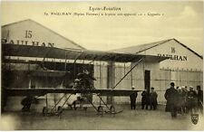 Cartolina Aviazione - Lyon- Aviation Paulhan Biplan Farman A Baptisé Son Apparei