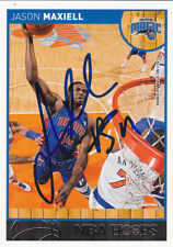 JASON MAXIELL DETROIT PISTONS SIGNED CARD CINCINNATI BEARCATS ORLANDO MAGIC