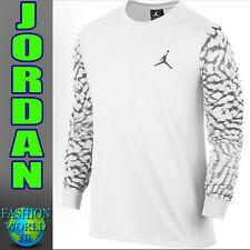 New Men's 4XL Nike Jordan Cloud Elephant LongSleeve Shirt 823331 100 WHITE XXXXL
