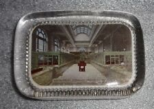 graphic old reverse glass paperweight advertising Union Trust Co Bank