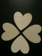 Clearance Sale!! 15 x Wooden Hearts,Crafts, Wedding, Card Embellishment 4 cm