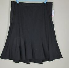 Catherines A Line Black Below the Knee Skirt Size 2X 22/24W NWT NEW