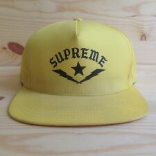 SUPREME X STARTER BOLTS LOGO VENTILE YELLOW SNAPBACK HAT 5 PANEL CAMP CAP SS2010