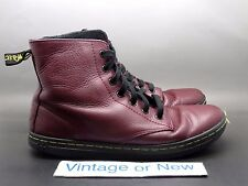 Women's Dr. Martens Leyton Oxblood Leather Boots sz 8