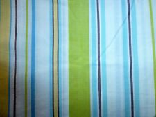 POTTERY BARN King CABO PREPPY VARIEGATED Stripe STRIPED Blue Lime DUVET COVER