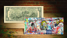 MICHAEL PHELPS 2016 RIO OLYMPICS Art Rency / Banksy GENUINE U.S. $2 Bill SIGNED
