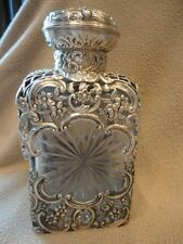 Sterling Silver Decanter VICTORIAN Liquor Flask Bottle Antique Vintage