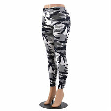 Women's Black Camo Pattern Leggings Camouflage Military
