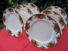 6 X Royal Albert Old Country Roses Bone China Dinner Plates - 1st Quality