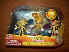 sonic the hedgehog super pack superpack figure set shadow silver chaos emeralds