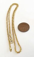 Superb Quality Ladies Stamped Vintage 14ct Gold Intricate Link Neck Chain 18 ""
