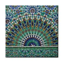 MOROCCAN MOSAIC BLUE NEW Ceramic WATERPROOF WALL FEATURE Tile Coaster 87356069