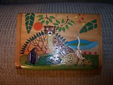 Vintage Wood Trinket Box Handpainted Costa Rica