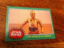 1977 Star Wars Movie Film Green Trading Card #200 C-3PO Searches For Counterpart