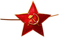 Soviet USSR Russian Army Red Star Military Hat Cap Beret Metal Pin Badge/2x2cm
