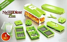 FRUIT CUTTER NICER DICER PLUS MULTI CHOPPER VEGETABLE AND SLICER GENIUS OREDFVG