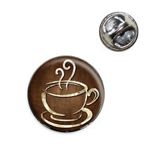 Coffee Cup Lapel Hat Tie Pin Tack