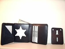 Clinton Co Michigan Sheriff's Badge ID Wallet CT-09 Blackinton B-956