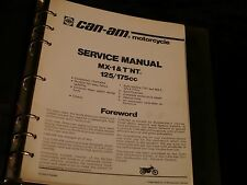 RARE Can am Can-Am MX-1 TNT MX1 125 175  SERVICE MANUAL 1974 PARTIAL