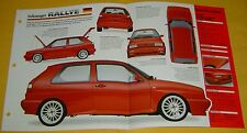 1990 1991 VW Volkswagen Golf Rallye 1763cc 160 hp IMP Info/Specs/photo 15x9