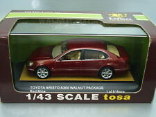 1/43 Tosa TOYOTA ARISTO S300 WALNUT PACKAGE (RED MICA), JAPAN LIMITED