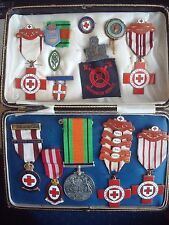 WW2 RED CROSS MEDAL / BADGE GROUP to F W COLLINS