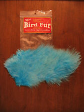 Fly Tying-Whiting Farms Spey Mini Bird Fur Silver Dr. Blue