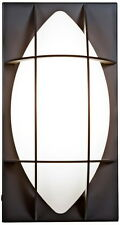 Bronze And Opal Glass Exterior Wall Light
